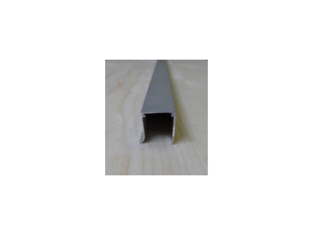 "Al ""U"" profil jednoduchý,tloušťka 10mm,stříbrný elox s krycí folií, 2,1 m"