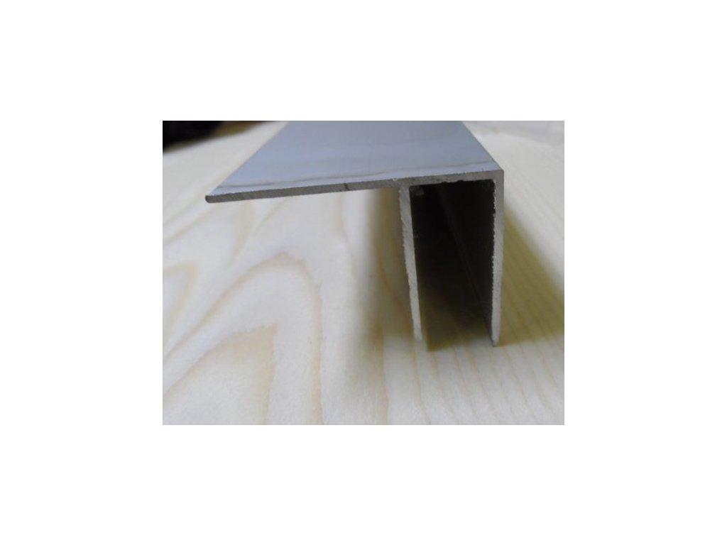 """Al """"F"""" profil,tloušťka 10mm,stříbrný elox,4 m"""
