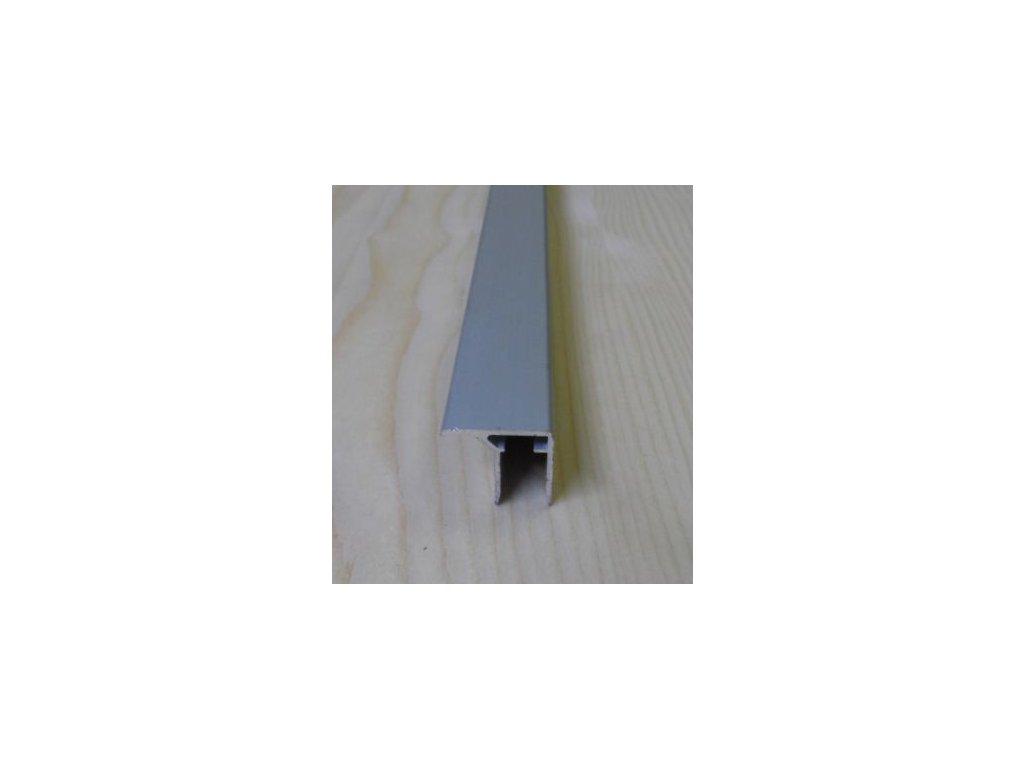"""Al """"U"""" profil s prodlouženou hranou,tloušťka 10mm,stříbrný elox s krycí folií,2,1 m"""