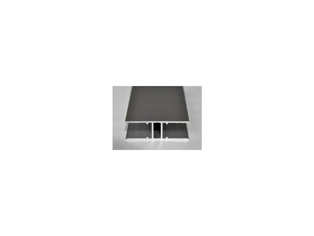 "Al ""H"" profil na 10 mm, stříbrný elox s krycí folií,6 m"
