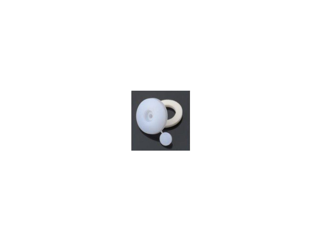 Přítlačný terčík s nylonovou podložkou,tloušťka 10mm,bílá