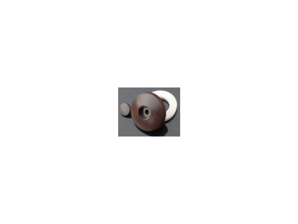 Přítlačný terčík s nylonovou podložkou,tloušťka 16mm,hnědá