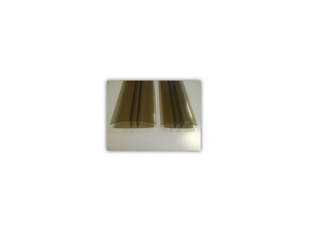 "PC ""H"" profil,tloušťka 10mm,4m,bronz"