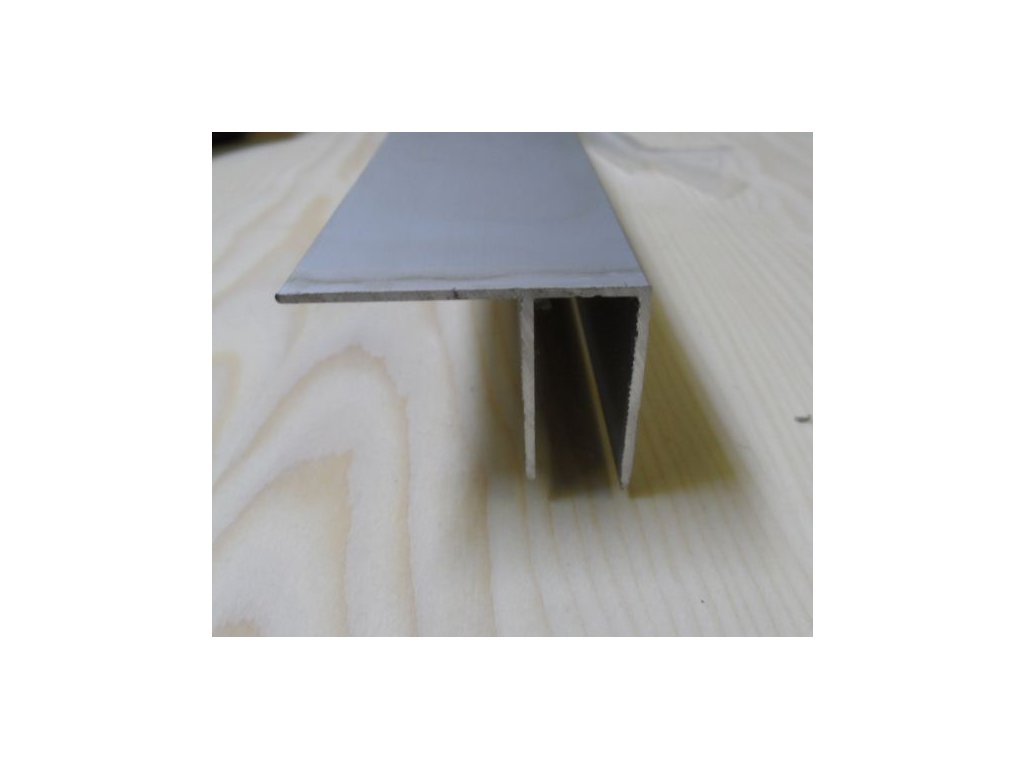 """Al """"F"""" profil,tloušťka 6mm,stříbrný elox,6 m"""