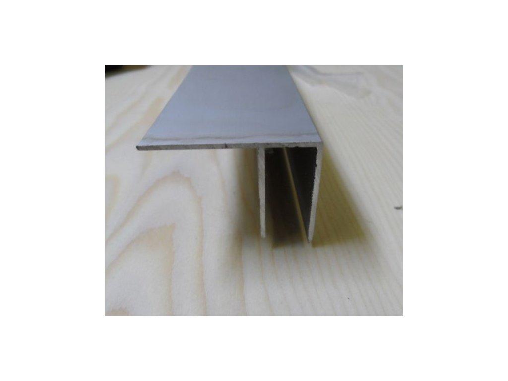 """Al """"F"""" profil,tloušťka 10mm,stříbrný elox,3 m"""