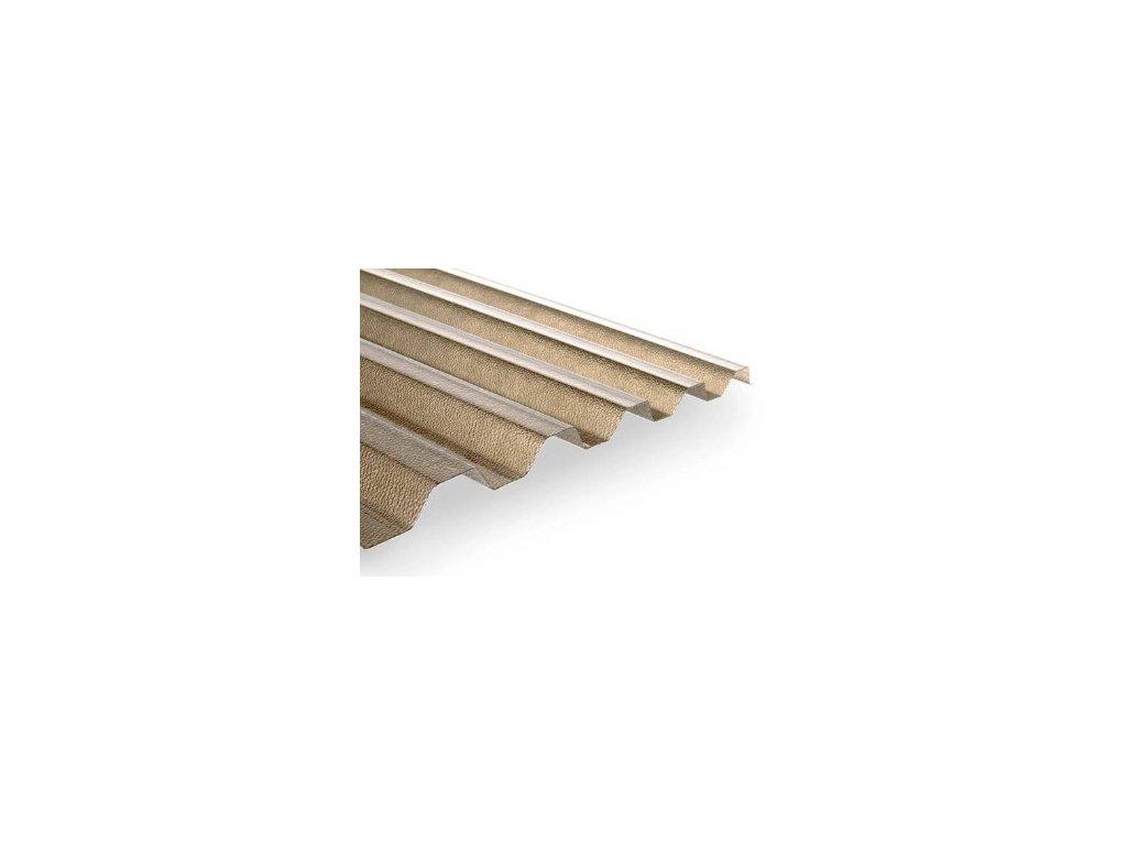 Trapéz,1045x3000mm,bronz,struktura R