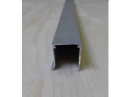 "Al ""U"" profil jednoduchý,tloušťka 10mm,stříbrný elox s krycí folií,6,4 m"