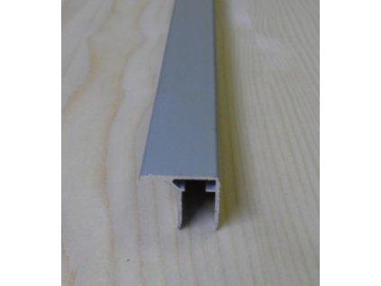 """Al """"U"""" profil s prodlouženou hranou,tloušťka 8mm,stříbrný elox s krycí folií,6,4 m"""