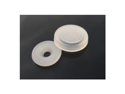Upevňovací podložka na desky - PE krytka,bílá
