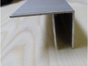 """Al """"F"""" profil,tloušťka 10mm,stříbrný elox,6 m"""