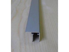 """Al """"U"""" profil s prodlouženou hranou,tloušťka 16mm,stříbrný elox s krycí folií,6,3 m"""