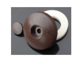 Přítlačný terčík s nylonovou podložkou,tloušťka 10mm,hnědá