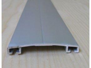 "Al přítlačná lišta ""oblá"",šíře 60mm,stříbrný elox s krycí folií,2 m"