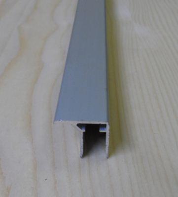 """Al """"U"""" profil s prodlouženou hranou,tloušťka 16mm,stříbrný elox s krycí folií,2,1 m"""