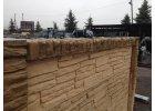 Betonová stříška průběžná na sloupek pískovec