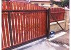Brána samonosná -vlastní výplň hnědá 1500x4000