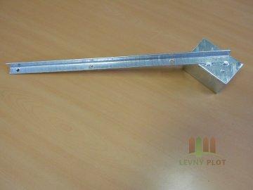 Bavolet 1-stranný na sloupek 60x60 mm-Zn
