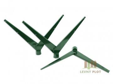 Bavolet 2-stranný na sloupek 48 mm-Zn+PVC