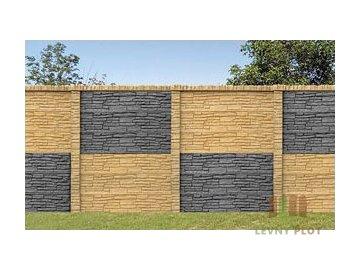 Betonová stříška průběžná na sloupek přírodní