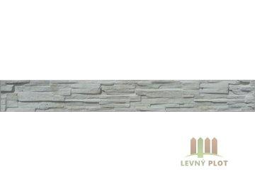 Betonový panel rovný jednostranný 200x25x4,5 cm - štípaný kámen - přírodní