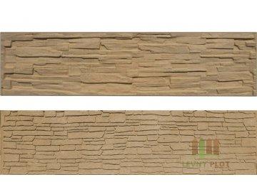 Betonový panel rovný oboustranný štípaný kámen 200 x 50 x 4,5 cm - pískovec