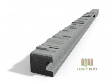 Betonový sloupek 2-str.štípaný kámen koncový přírodní 100 cm levý