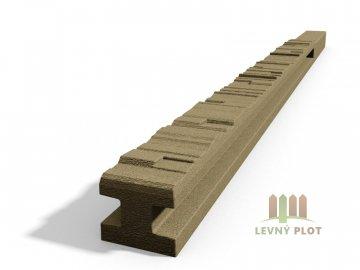 Betonový sloupek 2-str.štípaný kámen průběžný pískovec 200 cm