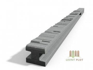 Betonový sloupek 2-str.štípaný kámen průběžný přírodní 200 cm