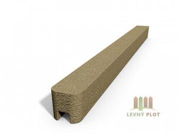 Betonový sloupek hladký koncový pískovec  200 cm