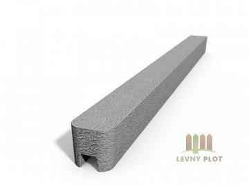 Betonový sloupek hladký koncový přírodní  250 cm