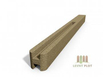 Betonový sloupek hladký průběžný pískovec  250 cm