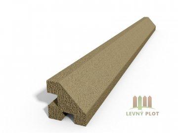 Betonový sloupek hladký rohový pískovec 250 cm