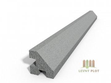 Betonový sloupek hladký rohový přírodní  250 cm