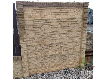 Betonový sloupek koncový 12x12x300 cm pískovec