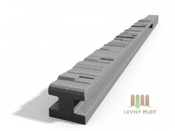 Betonový sloupek štípaný kámen průběžný přírodní 200 cm