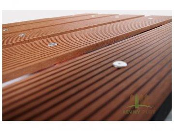 Dřevoplast WPC drážkovaná rovná 100x10x délka dle výběru, barva zlatý dub (barva: zlatý dub, délka: 2900 mm)