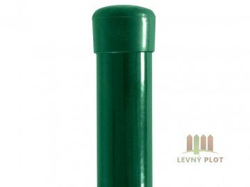 Plotový sloupek poplastovaný Zn + PVC 38x1,25 mm, různé délky, zelený (Délka v mm: 2200)