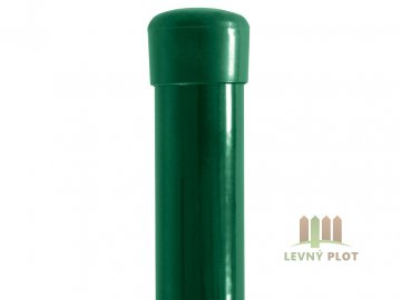 Plotový sloupek poplastovaný Zn + PVC 48x1,5 mm, různé délky, zelený (Délka v mm: 3000)