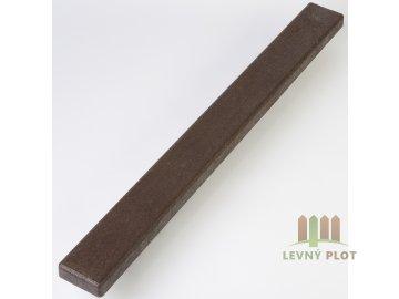 Recyklát prkno lavičkové 120x40 mm,2 m,hnědé