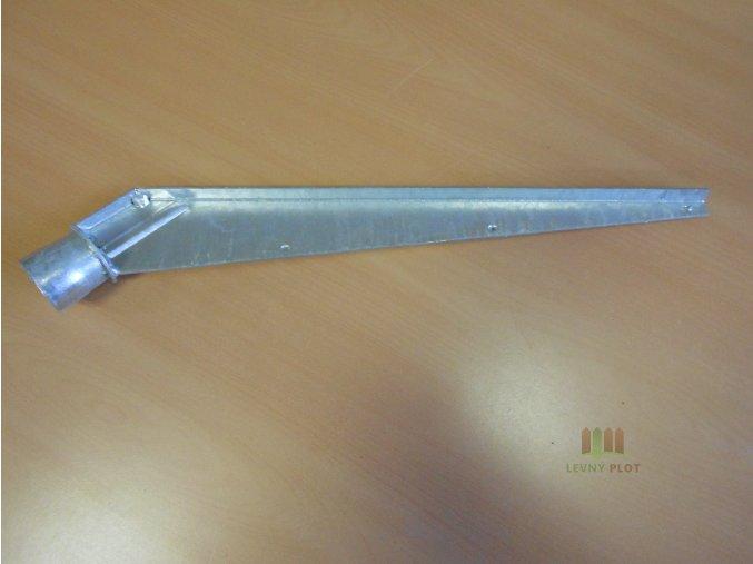Bavolet 1-stranný na sloupek 38 mm-Zn