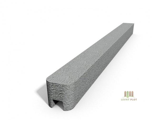 Betonový sloupek hladký koncový přírodní  175 cm