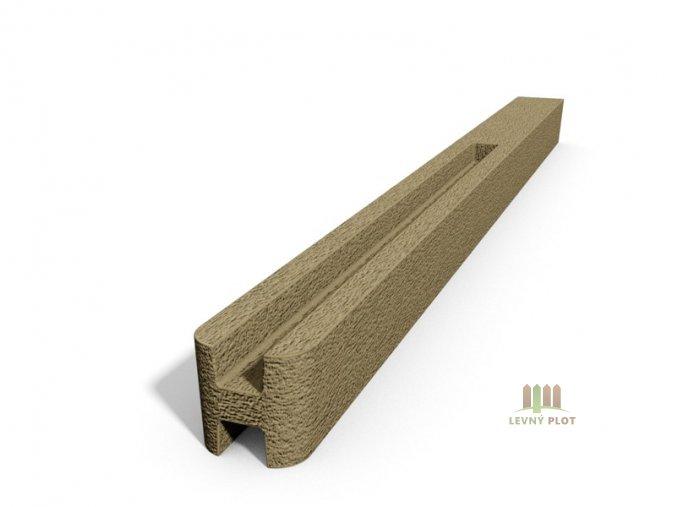 Betonový sloupek hladký průběžný pískovec  200 cm