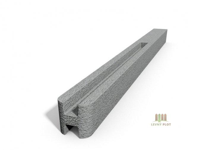 Betonový sloupek hladký průběžný přírodní  200 cm