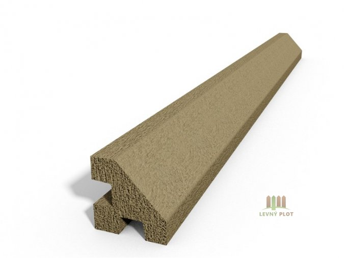 Betonový sloupek hladký rohový pískovec 100 cm