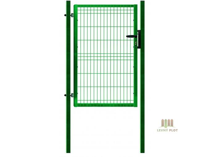 Ideal branka Pilofor š. 1089 mm x v. dle výběru, se zámkem Zn+PVC zelená (Výška v mm: 2045 mm)