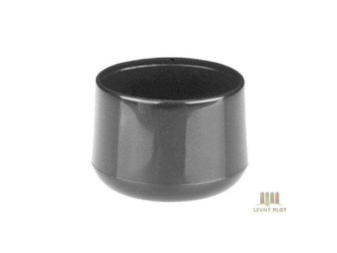 Klobouček sloupkový PVC 48 mm černá