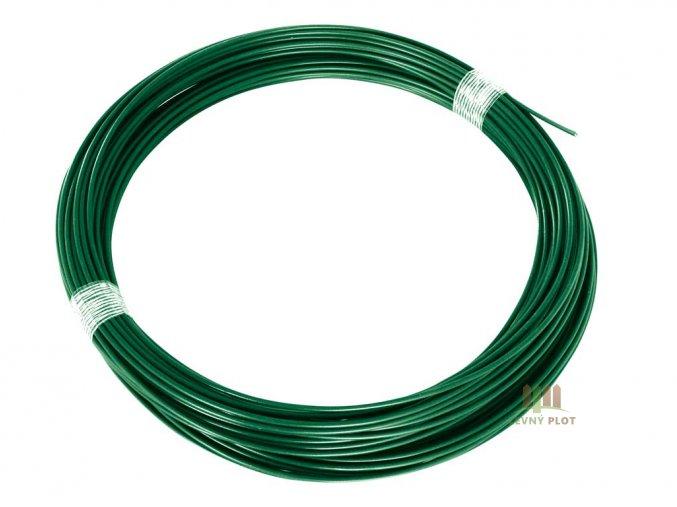 Napínací drát Zn+PVC 2,25/3,4 - 52 bm zelený