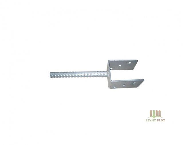 Patka pro ukotvení do betonu pro sloupek 60x60 Zn