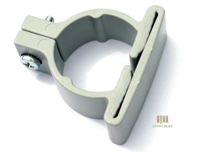 Plastová objímka pro kulatý sloupek /48 mm vč.šroubu / barevná