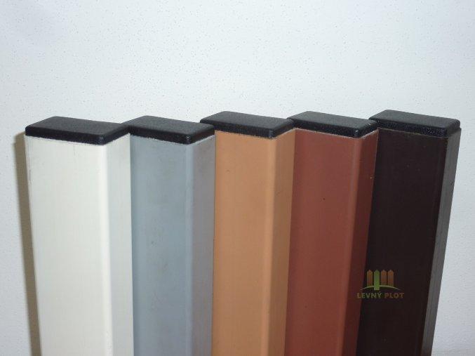 Poplastovaný nosník 50x30x1,8x6000 mm, celé tyče (Povrchová úprava: Zn + poplast šedý)